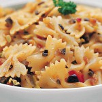 Linguine with Tomatoes and Olives recipe