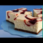 Low-Fat Berry Marble Cheesecake recipe
