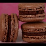 Macaroons Topped with Chocolate & Toasted Almonds recipe
