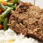 Mushroom Meatloaf with Pepper-Thyme Gravy recipe