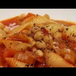 Pasta and Chickpea Soup recipe