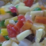 Pasta and Walnut Fruit Salad recipe