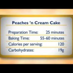 Peaches and Cream Torte recipe