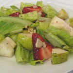 Pear Salad with Raspberry Cream recipe
