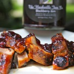 Peppered Pork Chops with Peach-Vinegar Glaze recipe