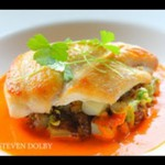 Polenta with Roasted Red Pepper Sauce recipe