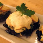 Portobellos with Walnuts and Blue Cheese recipe
