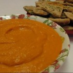 Roasted Red Bell Pepper and Garlic Dip recipe