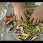 Roasted Veggie and Cheese Pitas recipe