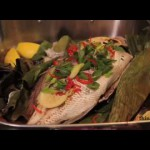 Salt-Baked Whole Fish with Lemon Caper Sauce recipe