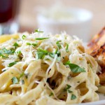 Sauteed Veal and Fettuccine recipe