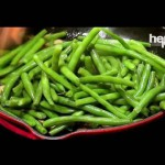 Spiced Green Beans with Roasted Chestnuts recipe