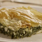 Spinach, Bean and Cheese Phyllo Pie recipe