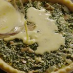 Spinach Cheddar Quiche recipe