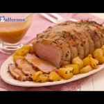 Stuffed Breast of Veal with Roasted Potatoes recipe