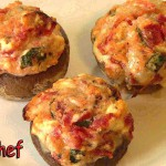 Stuffed Mushrooms with Sharp Cheddar Cheese recipe
