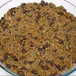 White & Black Beans with Onions & Peppers recipe