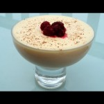 White Chocolate Mousse with Cherry Sauce recipe